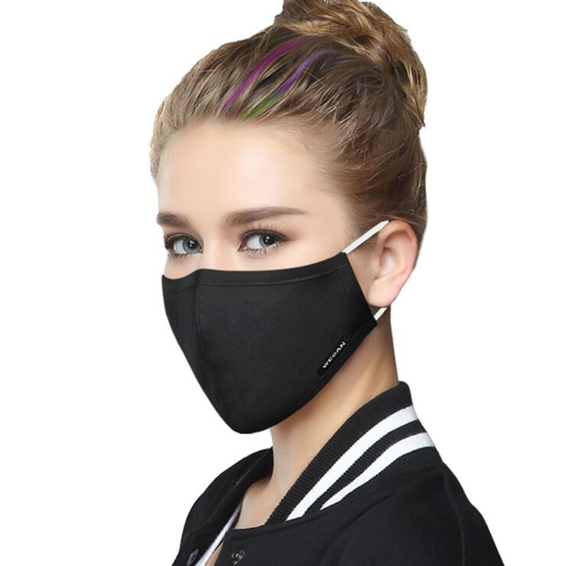 Cotton PM2.5 Anti Haze Face Mask Anti dust mouth mask mascaras Activated Carbon Filter Mouth-muffle Fabric Mask with 2pcs Filter 1