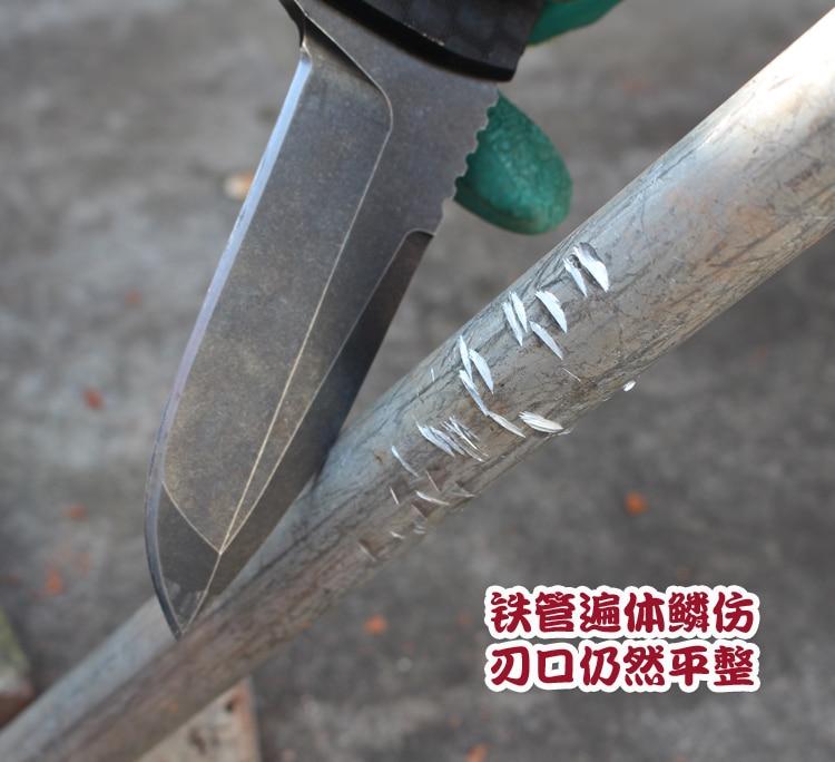 Купить с кэшбэком 2019 The cold steel DC53 high hardness straight knife blade Self-defense wild mountaineering tactical knife sharp bag mail