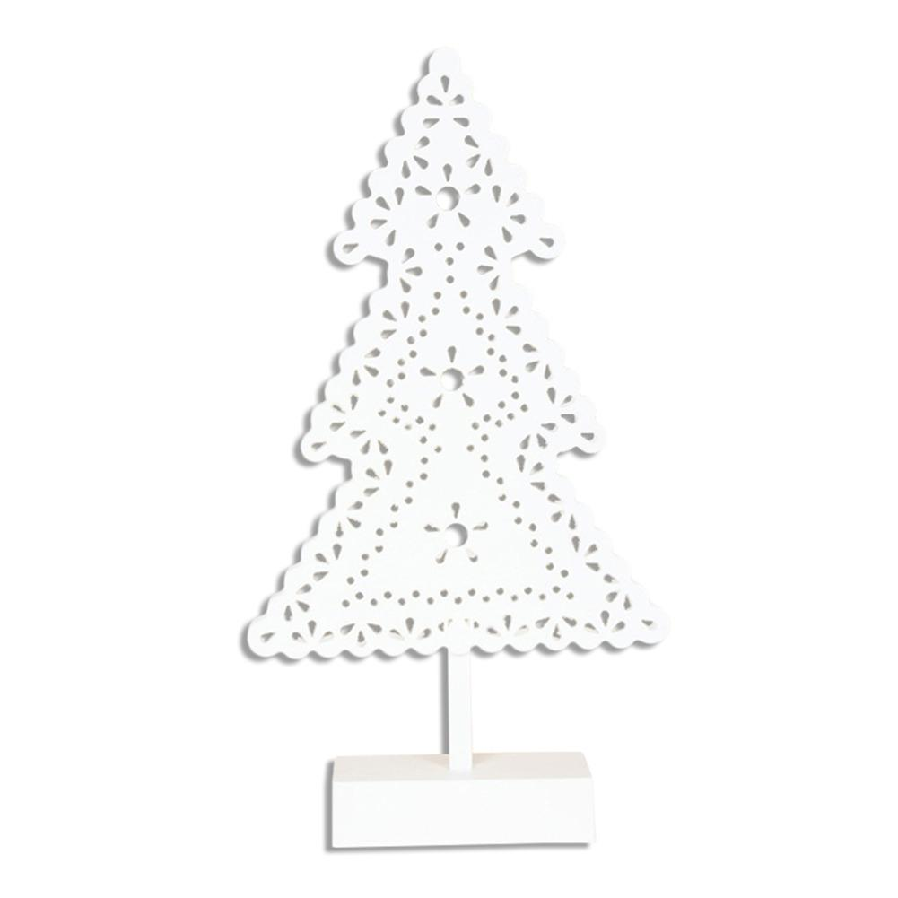 Christmas Tree Cut Out.Us 9 84 28 Off Christmas Ornaments Cutout Christmas Tree Desktop Decoration Ornaments Creative White Christmas Decorations With Led Lights In