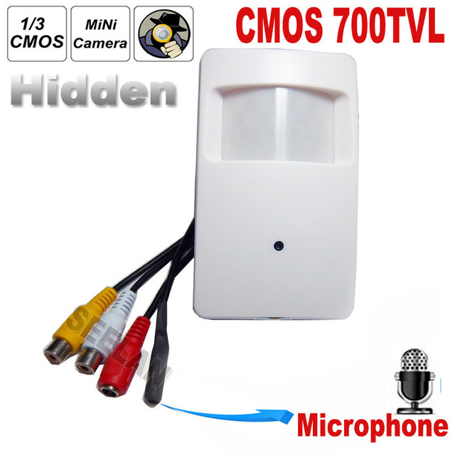 700TVL CCTV security Camera CMOS Color 960H Motion Detector PIR STYLE Indoor CCTV Mini PIR Style Surveillance Camera microphone