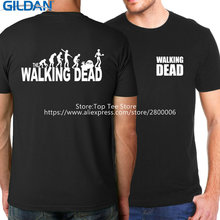 Create T Shirt  O-Neck Short Sleeve Broadcloth Mens The Walking Dead S Camisetas Hombre