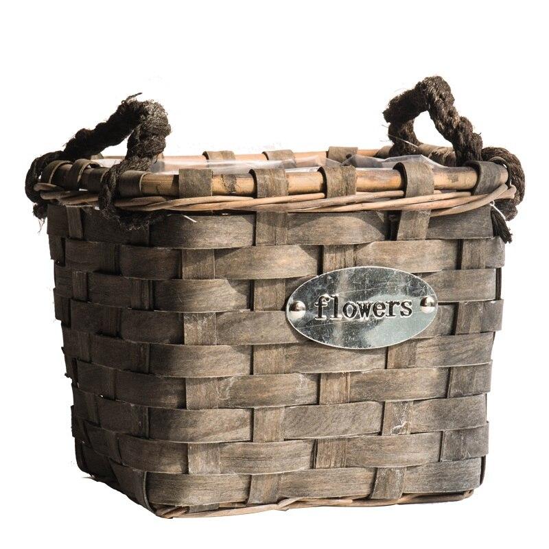 Handmade Natural Wooden Storage Basket Zakka sundries food fruit basket kitchen organizer Eco-friendly home storage organization