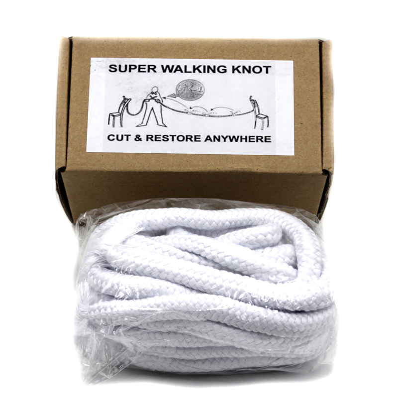 Super Walking Knot - White Magic Tricks Magician Stage Illusion Funny Gimmick Mentalism Classic Toys Cut Rope Restore Magic