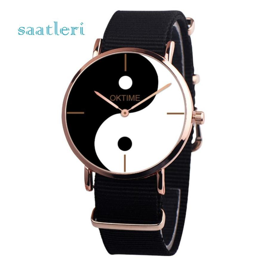 The new authentic watch high quality rosefield watch Womens  Eight-Diagram Tactics Casual Canvas Leather Analog Quartz Watch
