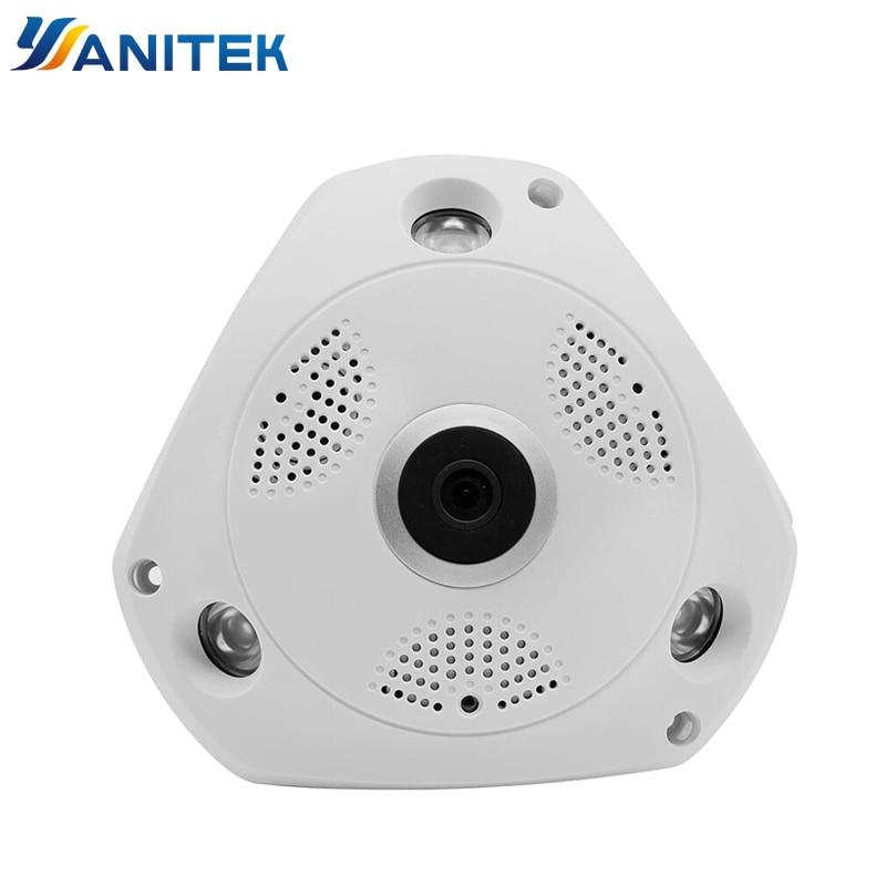 Yoosee appareil photo panoramique 360 degrés HD 3MP IP Caméra Wi-fi Deux Voies Audio Intérieure vision nocturne VR caméra de sécurité Sans Fil P2P