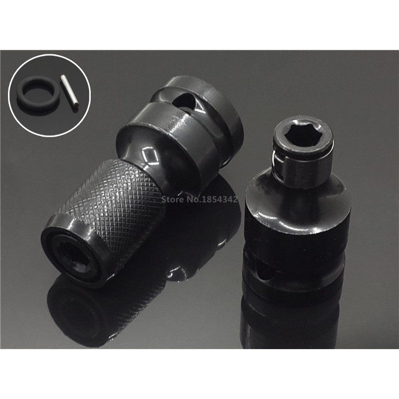 Drill Chuck Converter Connector Socket Adapter Engineer Tool For 1//4/'/' Hex Shank
