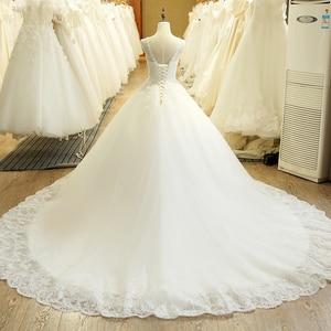 Image 2 - SL 1T בציר תפור לפי מידה אונליין ארוך תחרה אפליקציות סין חתונה שמלה בתוספת גודל בוהמי Abito דה sposa טול כלה שמלה