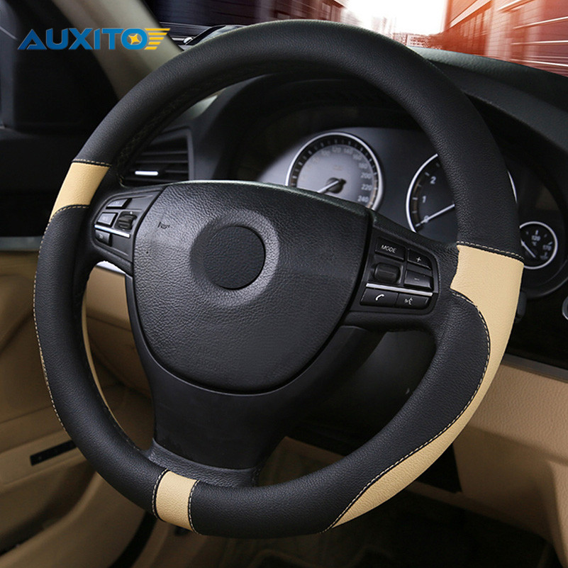 Car Steering Wheel Cover for Renault Megane 2 3 Duster Logan Clio 4 3 Laguna 2 Sandero Scenic 2 Captur Fluence Kangoo Armrest renault megane coupe 1999