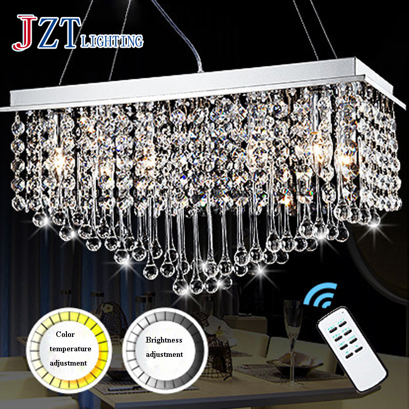 T 2016 New Rectangular Luxury Modern Fashion Pendant Light LED Home Crystal Lamps For Living Room Foyer Dining