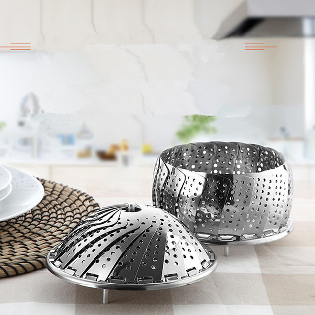 Kitchen Cooking Microwave Holder Stainless Steel Collapsible Steamer Tray Fruit Vegetable Food Plate Holder  sc 1 st  AliExpress.com : microwave plate holder - Pezcame.Com