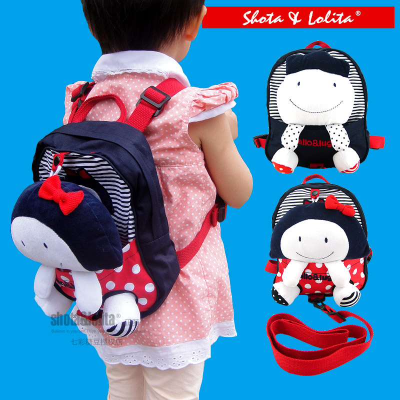Candice Guo Plush Toy Stuffed Doll Children Backpack Baby Lost Knapsack Schoolbag Girl Boy Safety Package Shoulder Bag Gift 1pc