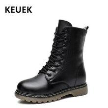 Botas militares para crianças, botas de couro genuíno para crianças, meninas, meninos, botas de neve, antiderrapantes 3b