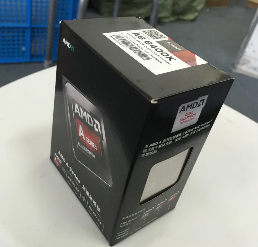 AMD A6-Series A6-6400K A6 6400 K AMD 6400 double-coeur CPU APU FM2 100% fonctionnant correctement processeur dordinateur de bureauAMD A6-Series A6-6400K A6 6400 K AMD 6400 double-coeur CPU APU FM2 100% fonctionnant correctement processeur dordinateur de bureau