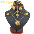 Ethlyn Best Quailty Ethiopian jewelry sets 22k Gold plated hair jewelry 6pcs sets & African jewelry for Ethiopia best Women gift