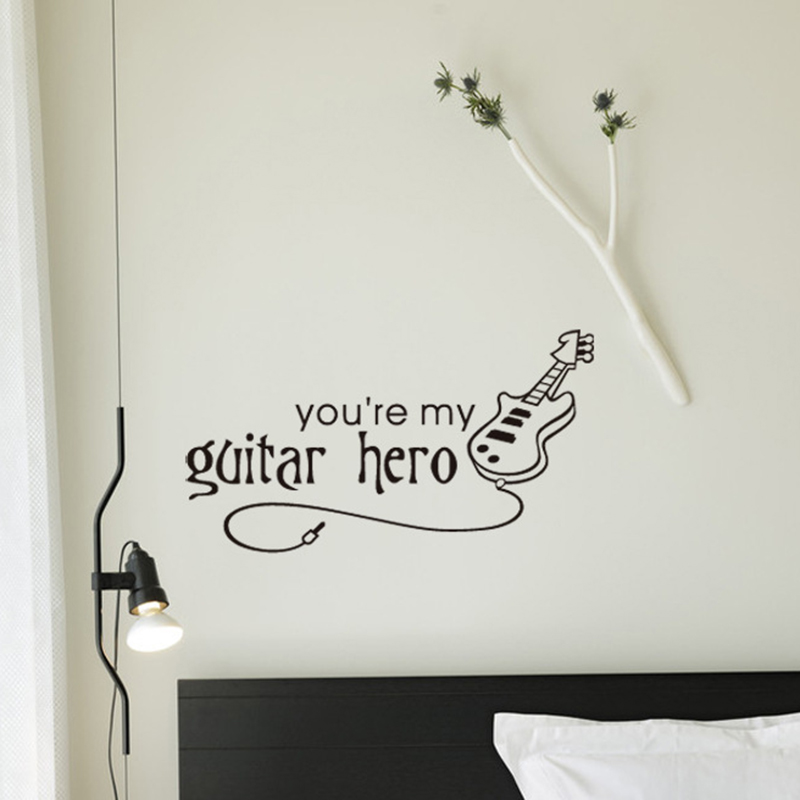 Free shipping Korean you are my guitar hero letter music wall