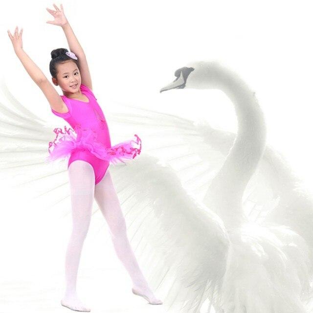 Zehui Style 3-7Y criança meninas Traning ginástica Ballet Tutu collant de manga curta vestido da dança