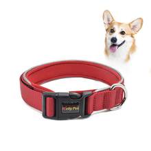 New Personazlied Dog Collar Nylon Reflective Pet Collars Customized with Anti-lost Tag for Small Medium Dogs