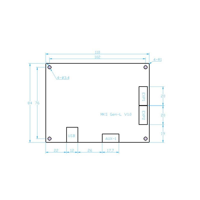 Pour MKS GEN L compatible avec TFT32 écran lcd Soutien TMC2208 Moteur Pilote 3D Kits D'impression nouveauté