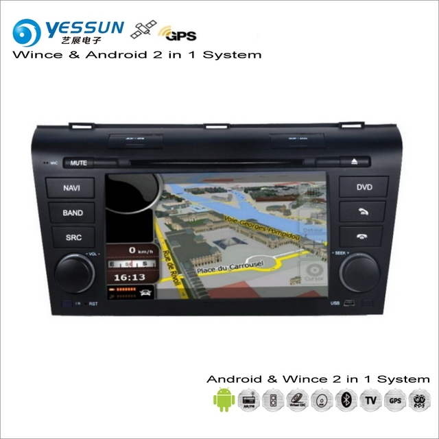 yessun para mazda 3 bk 2003 2009 android car multimedia. Black Bedroom Furniture Sets. Home Design Ideas