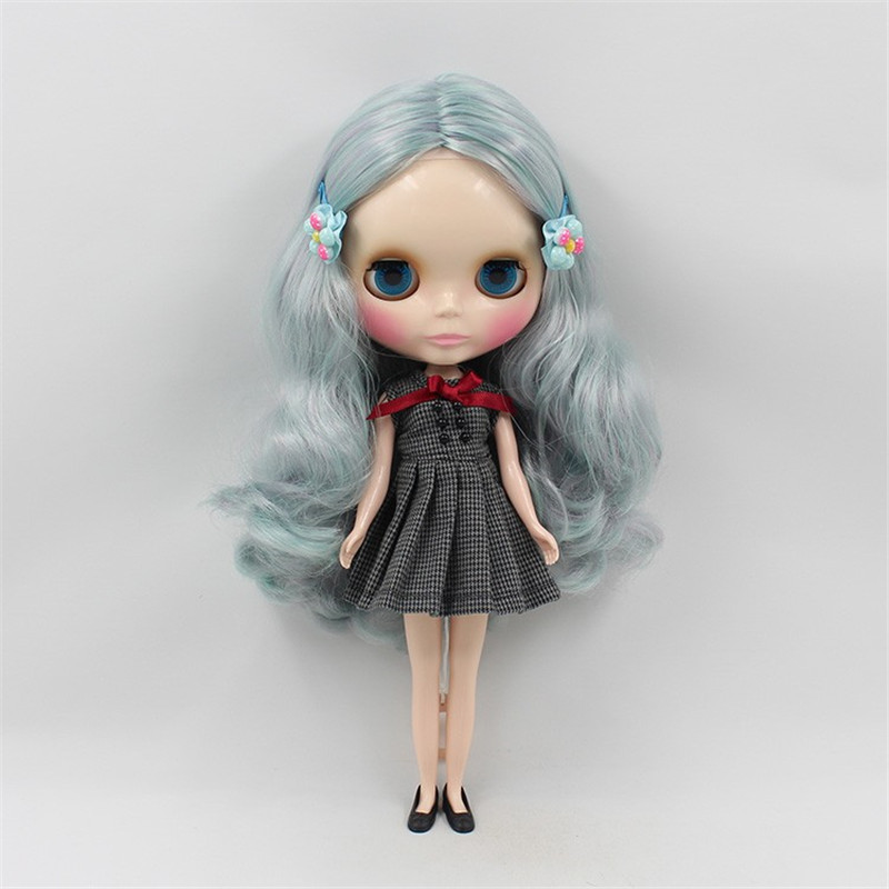 ICY Nude Blyth Doll No 1049 4006 Mint mix Purple hair without bangs white skin 1