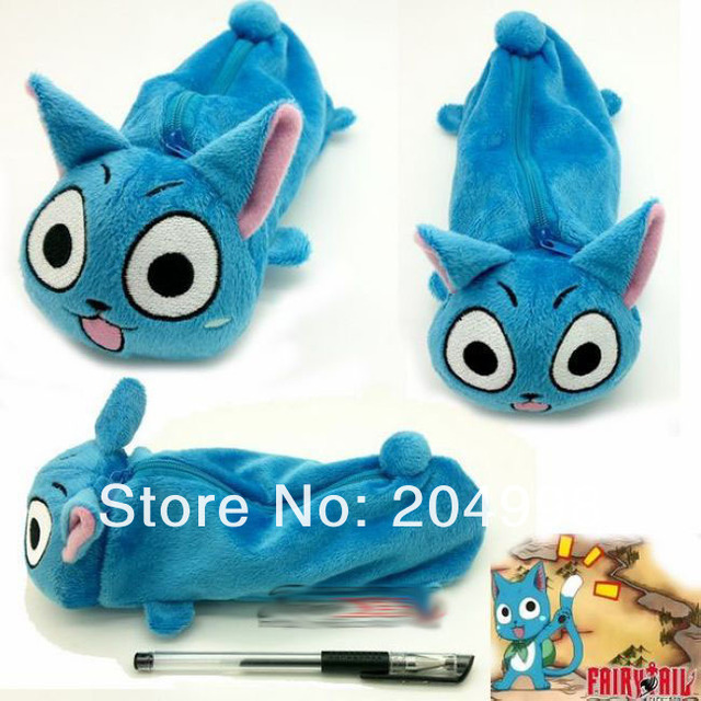 "Free shipping  Anime Fairy Tail Happy 8.3"" Cosplay  Plush Stuffed Toy Pencil Bag / Case Pen Holder"