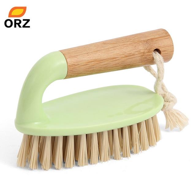 ORZ Tile Scrub Brush Household Washing Brush Iron Shape