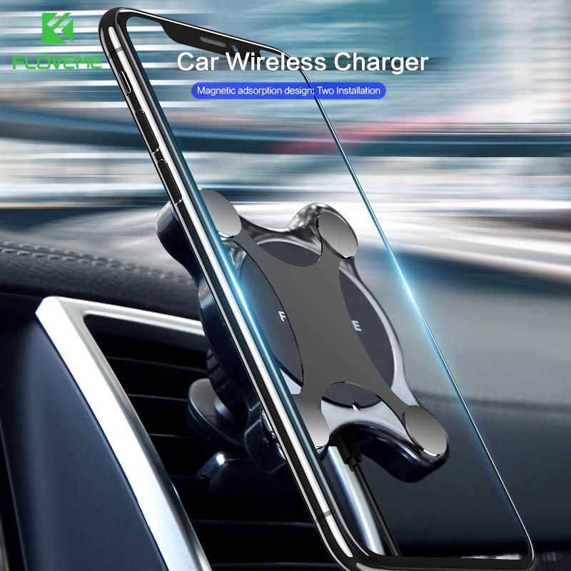 FLOVEME 10 w Veloce Caricabatteria Da Auto Senza Fili Per Samsung S8 S9 Più Il Magnete Auto Del Supporto Del Supporto Caricabatteria Per Auto Senza Fili Per iPhone XR XS Max