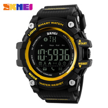 Skmei 1227 hombres smart watch digital relojes de pulsera de las mujeres relojes deportivos sueño recordatorio de llamada fotografía luz el relogio