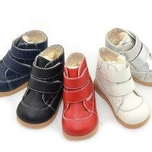 Зимние ботинки для маленьких мальчиков; цвет белый, черный, темно-синий, красный, серебристый; обувь для детей; ботинки для девочек; теплая простая модная обувь с ремешками