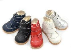 ليتل بنين الأحذية الشتاء أبيض أسود البحرية الأحمر الفضة الأحذية للأطفال الفتيات الأحذية الدافئة بسيط أحذية أنيقة الأشرطة