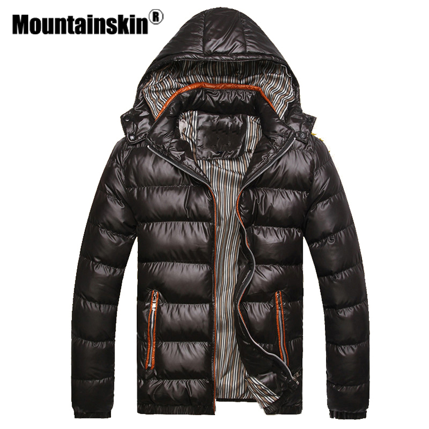 Mountainskin Hooded Men's Winter Jackets Casual   Parkas   Men Coats Thick Thermal Shiny Coats Slim Fit Brand Clothing 7XL SA045