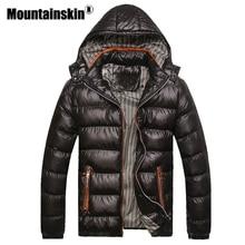 Mountainskin Mit Kapuze männer Winter Jacken Casual Parkas Männer Mäntel Dicke Thermische Shiny Mäntel Slim Fit Marke Kleidung 7XL SA045