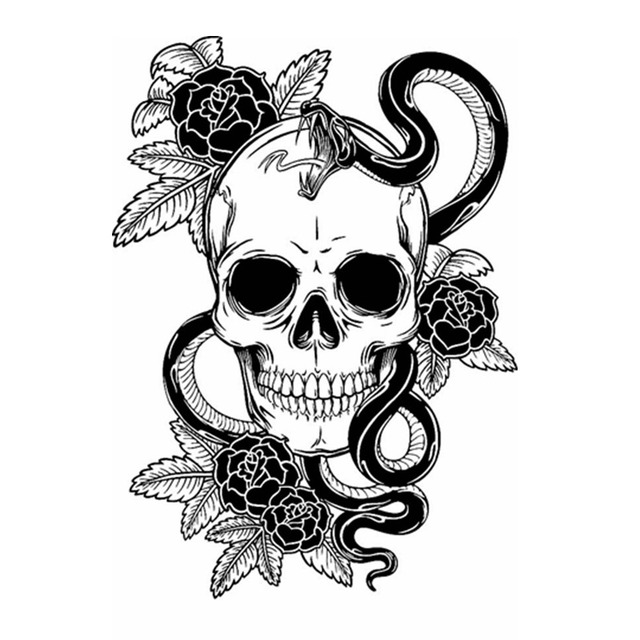 Dctal skull halloween rose snake sticker punk death decal halloween terror devil poster car window art
