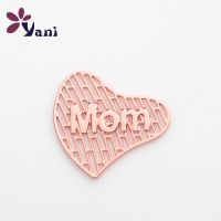 New Arrives 20pcs/lot Rose Gold Heart Hollow Plates Charms For Cheap Floating Locket Pendants
