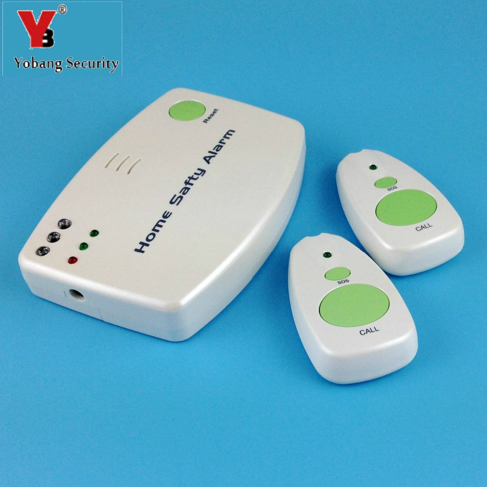 YobangSecurity Battery Power Home Safety Alarm Pager SOS Emergency Call Button Help Alarm System Patient Panic Button Elderly  цены