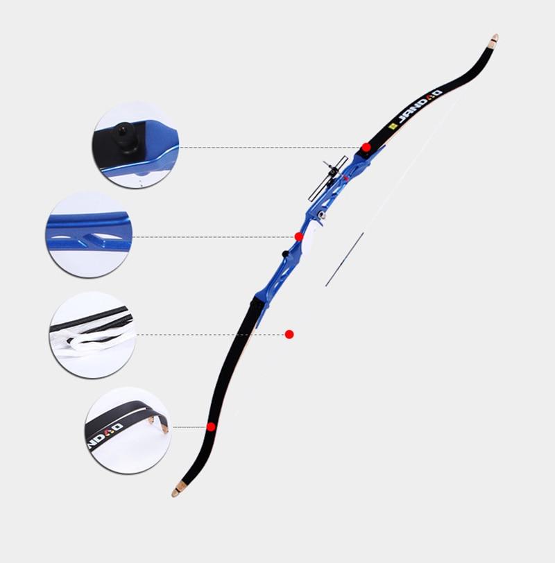 7 colores 18-40 lb Arco recurvado con vista Flecha Resto Manija de - Caza - foto 4