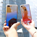 Casos de telefone para o iphone 7 baseus case marca de luxo mulheres homens gradiente transparente tampa do pc para o iphone 6 case 6 s i7/i7 mais case