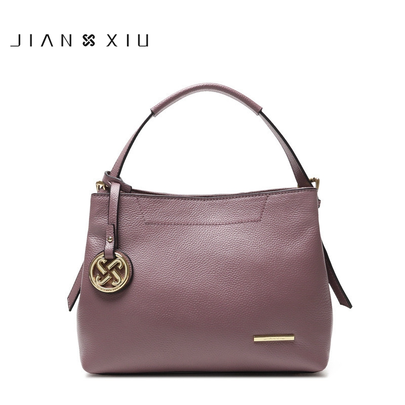 JIANXIU Real Cow Leather Ladies HandBags Women Genuine Leather bags Totes Messenger Bags Hign Quality Designer Luxury Brand Bag donghong real cow leather ladies hand bags women genuine leather handbag shoulder bag hign quality designer luxury brand bag