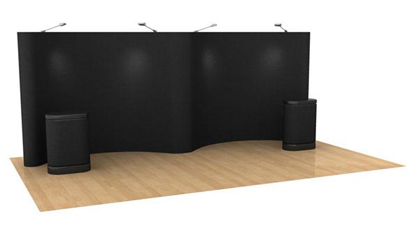 Flannel POP up Stand Exhibition Booth / Trade Show Booth Backdrop, POP up Stand with black flannel panels