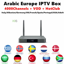 Europa Italiaanse IPTV Box Zidoo X9S Android TV Box 16G Rom iptv 1 jaar Abonnement iptv Franse USA Portugal Volwassen Smart tv doos(China)