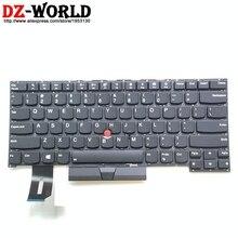 لوحة مفاتيح أصلية جديدة باللغة الإنجليزية الأمريكية مزودة بإضاءة خلفية للكمبيوتر المحمول Thinkpad P1 X1 Extreme SN20R58769 01YU756 01YU757