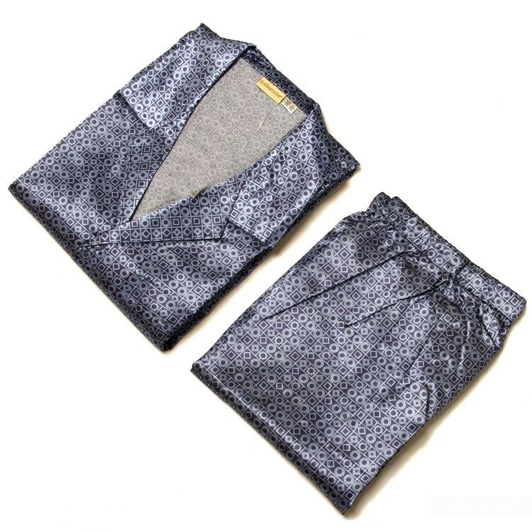 Hombre\homme Blue Dot Summer Faux Silk Pajamas\pijama\pyjama Sets Satin Oversize Loose Home\sleepwear For Herren\lover\men\uomos