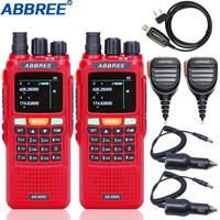 2Pcs ABBREE AR 889G GPS 10W High Power Cross Band Repeater Walkie Talkie Dual Band 10 km Hunting Ham CB Portable Two Way Radio