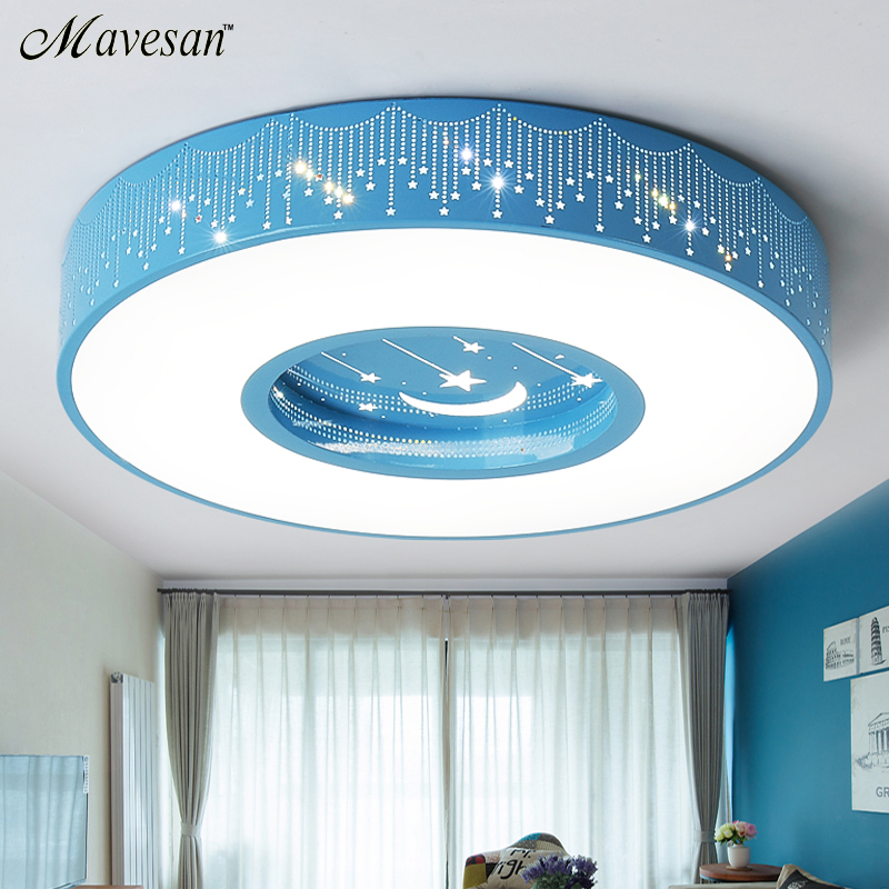 2018 Kids Room Flush Mount Ceiling Light LED With White