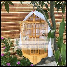 1Set 33cm thrush bird cage old bamboo starling brother a full set of handmade