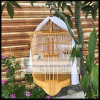 1Set 33cm thrush bird cage old bamboo cage starling brother a full set of handmade