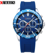 Cuarzo relojes hombres CURREN de la marca de silicona relojes de pulsera hombres famoso Reloj Casual con fecha Reloj para hombre Reloj Relogios Masculinos