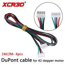 XCR3D Yüksek Kalite 4 adet/grup 1 M/2 M XH2.54 4pin-XH2.0 6pin için Paralled Motor Bağlayıcı Kabloları 42 Step motor 3D Yazıcı P...