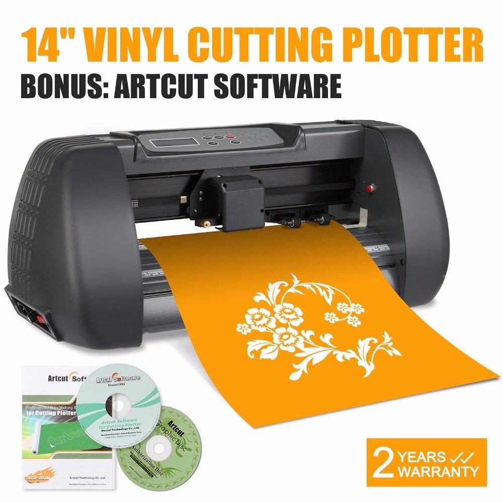 Виниловый плоттер знак режущие инструменты Новый 14 виниловый резак машины Artcut программного обеспечения