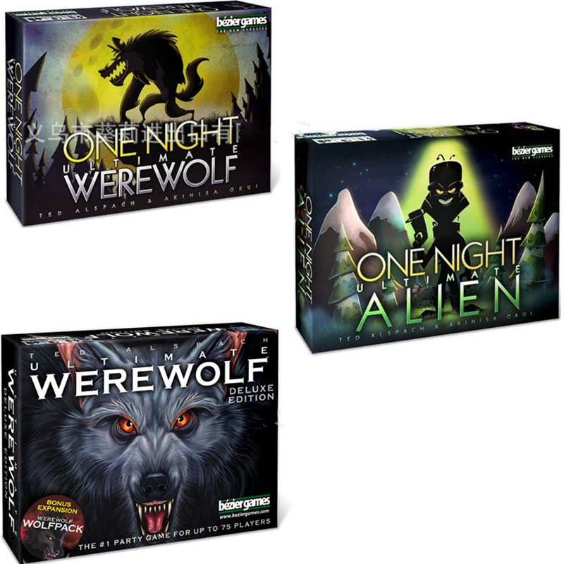 One Night Ultimate Werewolf Alien Board Games Werewolves For Home Party English Version Cards Game Forkids Gifts